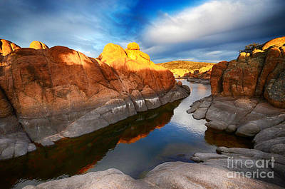 Watson Lake Reflections Photograph - Watson Lake Arizona 10 by Bob Christopher