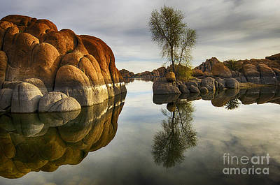 Watson Lake Reflections Photograph - Watson Lake Arizona 12 by Bob Christopher