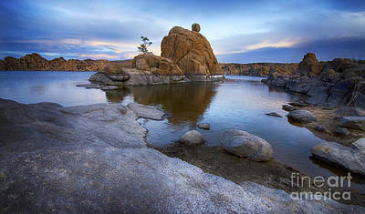 Watson Lake Reflections Photograph - Watson Lake Arizona 14 by Bob Christopher
