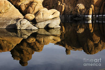 Watson Lake Reflections Photograph - Watson Lake Arizona 3 by Bob Christopher