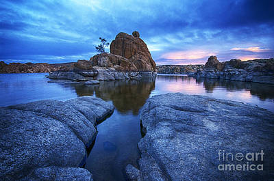 Watson Lake Reflections Photograph - Watson Lake Arizona 4 by Bob Christopher