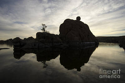 Watson Lake Reflections Photograph - Watson Lake Arizona 6 by Bob Christopher
