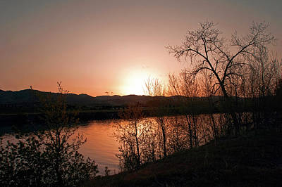 Photograph - Watson Lake At Sunset by James Steele