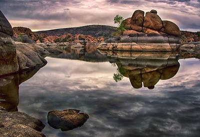 Photograph - Watson Lake Clouds Reflections by Dave Dilli