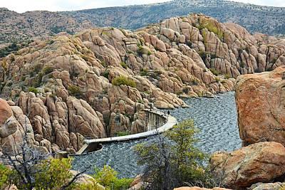 Watson Lake Dam Art Print