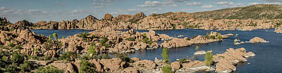 Photograph - Watson Lake Panorama 2 by Teresa Wilson