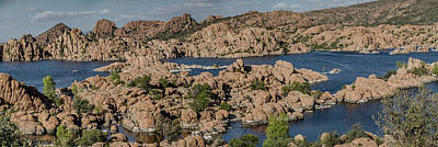 Watson Lake Panorama 3 Art Print by Teresa Wilson