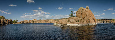 Photograph - Watson Lake Panorama by Teresa Wilson