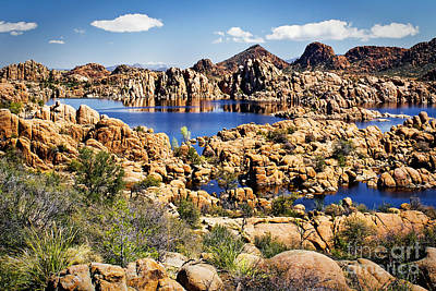 Granite Dells At Watson Lake Art Print