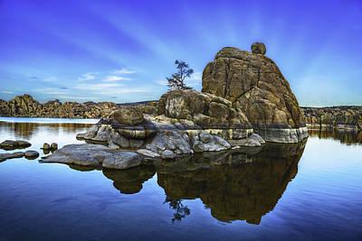 Watson Lake Photograph - Watson Lake Refection by Janet Ballard
