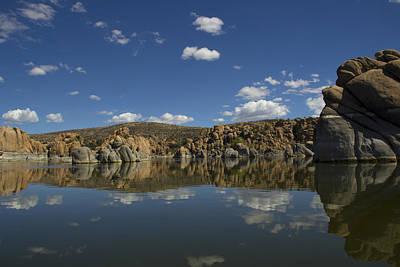 Watson Lake Reflection Art Print by Amy Sorvillo