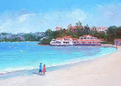 Sydney Harbour Painting - Watsons Bay Sydney Harbour - Doyles On The Beach Restaurant by Jan Matson