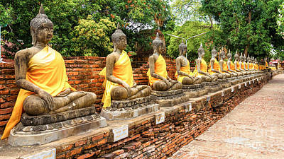 Photograph - Wat Yai Chai Mongkol by Rene Triay Photography