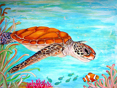 Seagrass Painting - Watzup Dude by Barbi  Holzmann