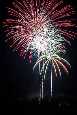 Photograph - Waukesha Fireworks 01 by Jeanette Fellows