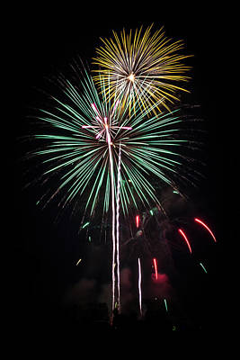 Photograph - Waukesha Fireworks 02 by Jeanette Fellows