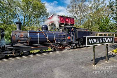 Belgium Digital Art - Waunfawr Station  by Adrian Evans