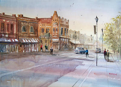Painting - Waupaca - Main Street by Ryan Radke