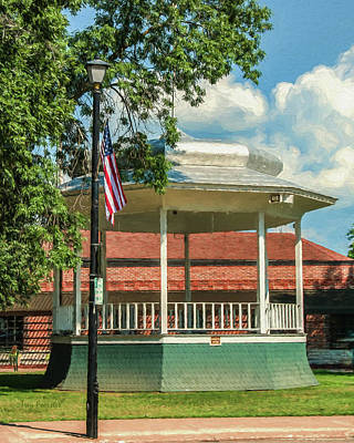 Photograph - Waupaca Band Stand by Trey Foerster