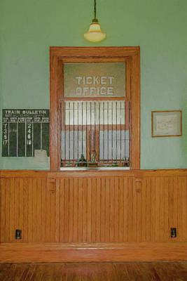 Photograph - Waupaca Train Depot by Trey Foerster