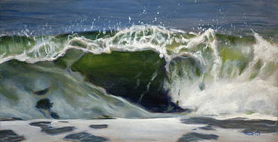 Wind Surfing Art Painting - Wave 77 by Christopher Reid