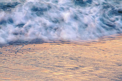 Photograph - Wave Abstract 3, Hoi An, 2014 by Hitendra SINKAR
