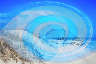 Photograph - Wave Abstract by Debra and Dave Vanderlaan
