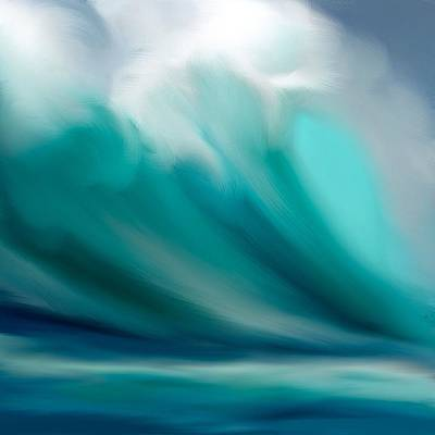 Water Digital Art - Wave  by Anthony Fishburne