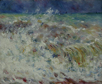 Renoir Painting - Wave At Sea by MotionAge Designs