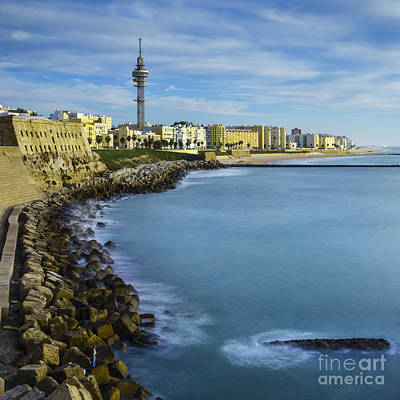 Photograph - Wave Breaker Cadiz Spain by Pablo Avanzini