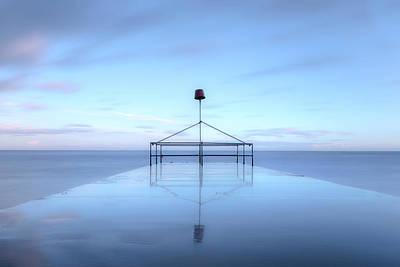 Slip Photograph - wave-breaker - England by Joana Kruse