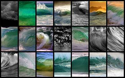 Wave Chart Art Print by Brad Scott