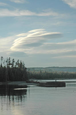 Wave Clouds Over Yellowstone Lake Art Print by Deni Dismachek