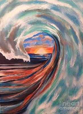 Painting - Wave by Denise Tomasura