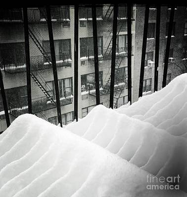 Photograph - Wave Formations - Winter In New York by Miriam Danar
