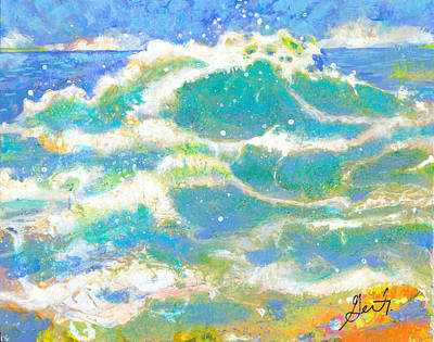 Painting - Wave by Gertrude Palmer