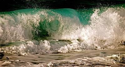 Beach Photograph - Wave Heart, Sunset Beach Hawaii by Debra Banks