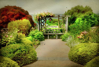 Wave Hill Trellis Print by Diana Angstadt