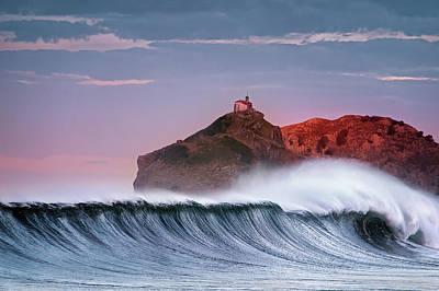 Wave In Bakio Art Print by Mikel Martinez de Osaba