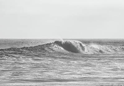 Photograph - Wave In Black And White by Cliff Wassmann