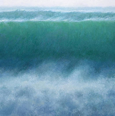Surfing Art Painting - Wave by Jeremy Annett