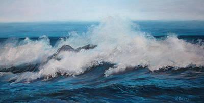 Wave Art Print by Linda Preece