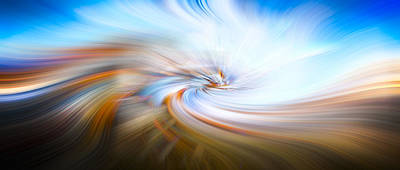 Mandala Photograph - Wave Of Light by Debra and Dave Vanderlaan