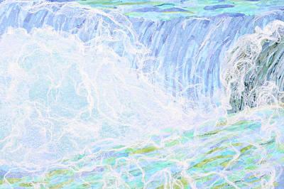 Wall Art - Tapestry - Textile - Wave by Pauline Barrett