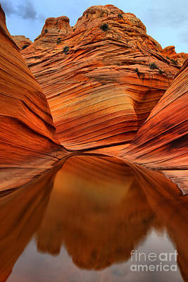 Photograph - Wave Reflection Portrait by Adam Jewell