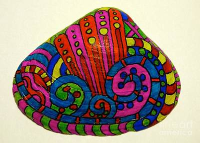 Photograph - Wave Sharpie Shell by Jean Wright