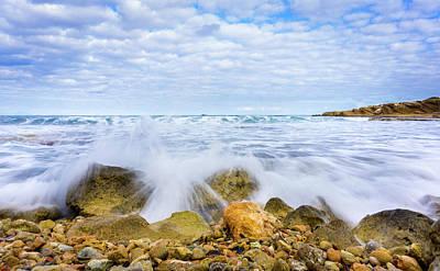 Photograph - Wave Splash by Gary Gillette