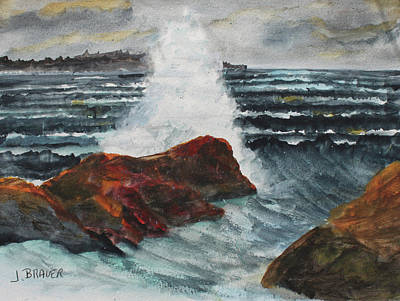 Painting - Wave Splash by Jack G Brauer