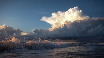 Photograph - Wave Splash Storm Delray Beach Florida by Lawrence S Richardson Jr