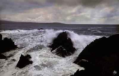 Photograph - Wave Strike Point Lobos by Wayne King